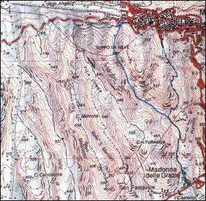 21.Monte S.Angelo Tuppo la Neve Valle del Galluccio (Monte S.Angelo) Macchia Posta (S.S. 89, km 158+600)