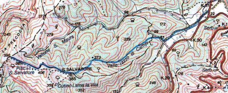 8.Bivio S. Salvatore It. N.7 Torre PalermoVieste S. Salvatore (valle Jazzo di Campi) S.p. MattinataVieste (Km 30+900)