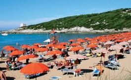 La spiaggia di Cala Lunga