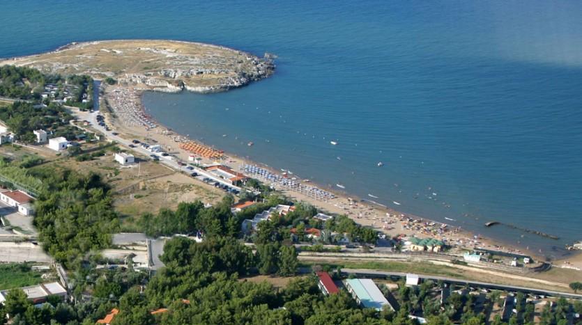 L'ampia spiaggia di Molinella