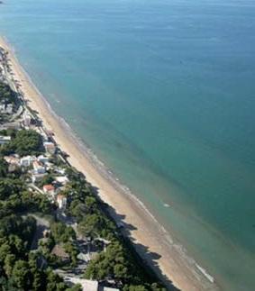 L'arenile di sabbia che digrada dolcemente permette una passeggiata di alcuni kilometri fino alla vicina Rodi Garganco