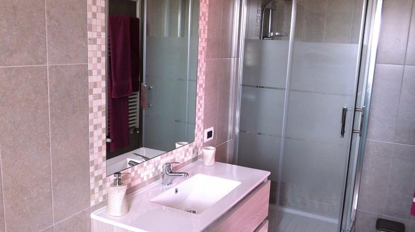 Gli accessori bagno della camera Vite a Villa Simone