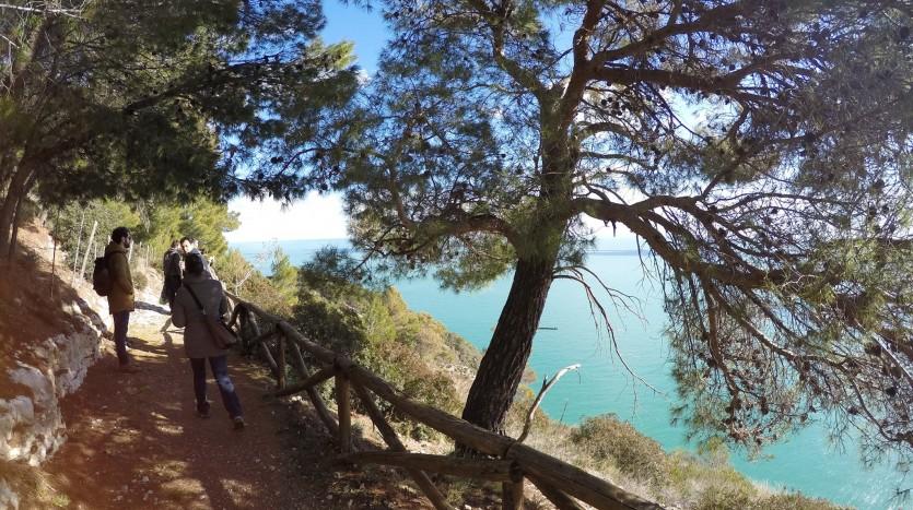 trekking sul sentiero dell'amore
