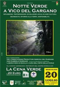 La cena verde @ Vico del Gargano | Vico del Gargano | Puglia | Italia